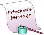 From Principal's Desk